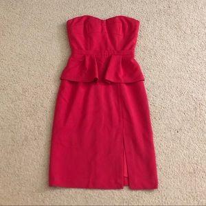 BCBG tube top strapless dress